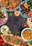 Παραδοσιακά τουρκικά πιάτα Στοκ Φωτογραφίες