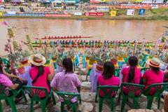 Παραδοσιακά φεστιβάλ   Φυλή κάθε χρόνο 21 βαρκών την 22α Σεπτεμβρίου, Phitsanulok Ταϊλάνδη Στοκ Εικόνα