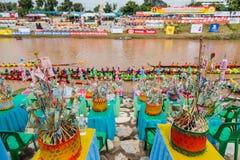 Παραδοσιακά φεστιβάλ   Φυλή κάθε χρόνο 21 βαρκών την 22α Σεπτεμβρίου, Phitsanulok Ταϊλάνδη Στοκ Φωτογραφία