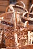 Παραδοσιακά χειροποίητα υφαμένα ψάθινα καλάθια Στοκ φωτογραφία με δικαίωμα ελεύθερης χρήσης