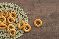 Παραδοσιακά bagels και doily δαντελλών Στοκ φωτογραφίες με δικαίωμα ελεύθερης χρήσης