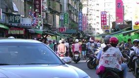 Παραδοσιακές αγορές στην Ταϊβάν, Ταϊπέι απόθεμα βίντεο
