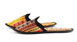 Παραδοσιακές αραβικές παντόφλες Στοκ φωτογραφία με δικαίωμα ελεύθερης χρήσης