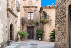 Παραδοσιακές αρχιτεκτονικές Espanyol Poble στη Βαρκελώνη Στοκ φωτογραφία με δικαίωμα ελεύθερης χρήσης