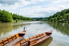 Παραδοσιακές βάρκες κλωτσιάς Tubingen στο aka Tuebingen Στοκ Εικόνα
