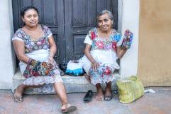 Παραδοσιακές γυναίκες στο Βαγιαδολίδ Στοκ Φωτογραφίες