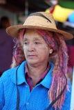 Παραδοσιακές γυναίκες της Shan από το Μιανμάρ Στοκ Εικόνα
