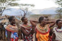 Παραδοσιακές γυναίκες Samburu στην Κένυα Στοκ Εικόνες