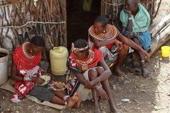 Παραδοσιακές γυναίκες Samburu στην Κένυα Στοκ εικόνες με δικαίωμα ελεύθερης χρήσης