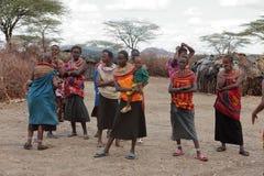 Παραδοσιακές γυναίκες Samburu στην Κένυα Στοκ εικόνα με δικαίωμα ελεύθερης χρήσης