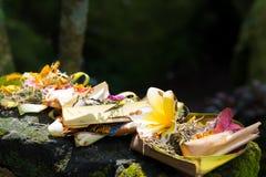 Παραδοσιακές θρησκευτικές από το Μπαλί προσφορές στο Μπαλί στοκ εικόνες με δικαίωμα ελεύθερης χρήσης