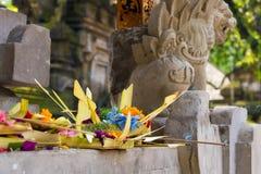 Παραδοσιακές θρησκευτικές από το Μπαλί προσφορές στο Μπαλί στοκ εικόνα με δικαίωμα ελεύθερης χρήσης