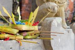 Παραδοσιακές θρησκευτικές από το Μπαλί προσφορές στο Μπαλί στοκ εικόνες