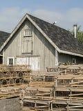 Παραδοσιακές ξύλινες παγίδες αστακών Στοκ φωτογραφία με δικαίωμα ελεύθερης χρήσης
