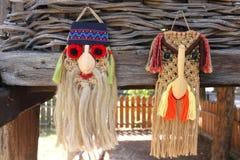 Παραδοσιακές ρουμανικές μάσκες στοκ εικόνες