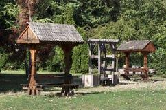 Παραδοσιακές ρουμανικές πύλες Στοκ Εικόνες