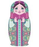 Παραδοσιακές ρωσικές κούκλες matryoshka (matrioshka) Στοκ Εικόνες