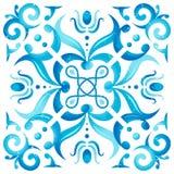 Παραδοσιακή άνευ ραφής μεσογειακή διακόσμηση Στοκ Εικόνες