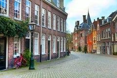 Παραδοσιακή άποψη σπιτιών στο Λάιντεν, Κάτω Χώρες Στοκ φωτογραφίες με δικαίωμα ελεύθερης χρήσης