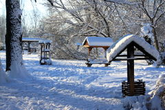 Παραδοσιακή αγροτική περιοχή το χειμώνα Στοκ φωτογραφία με δικαίωμα ελεύθερης χρήσης