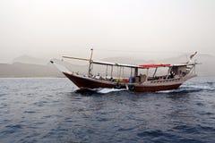 Παραδοσιακή αραβική βάρκα Dhow στοκ φωτογραφία με δικαίωμα ελεύθερης χρήσης