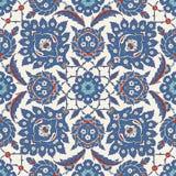 Παραδοσιακή αραβική διακόσμηση άνευ ραφής για το σχέδιό σας Ταπετσαρία υπολογιστών γραφείου Υπόβαθρο Iznik απεικόνιση αποθεμάτων