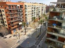 Παραδοσιακή αρχιτεκτονική της Βαρκελώνης, Ισπανία Στοκ Φωτογραφίες