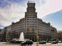 Παραδοσιακή αρχιτεκτονική της Βαρκελώνης, Ισπανία Στοκ Φωτογραφία