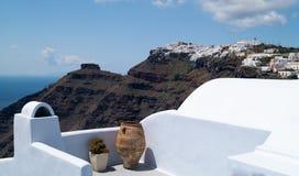Παραδοσιακή αρχιτεκτονική Oia του χωριού στο νησί Santorini Στοκ Φωτογραφίες
