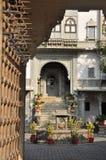 Παραδοσιακή αρχιτεκτονική Udaipur, Rajasthan, Ινδία πολυτέλεια ξενοδοχείων σχεδίου πνευματικών δικαιωμάτων το πρόγραμμα αριθ Στοκ Φωτογραφίες
