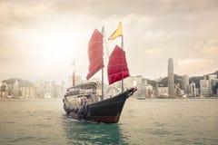 Παραδοσιακή βάρκα Χονγκ Κονγκ Στοκ Εικόνα