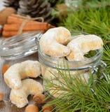Παραδοσιακή βανίλια μπισκότων Χριστουγέννων Στοκ φωτογραφίες με δικαίωμα ελεύθερης χρήσης