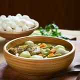 Παραδοσιακή βολιβιανή σούπα αποκαλούμενη Chairo de Tunta Στοκ Εικόνες