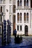 Παραδοσιακή γόνδολα στο μεγάλο κανάλι, Βενετία Ιταλία Βενετία Στοκ φωτογραφία με δικαίωμα ελεύθερης χρήσης