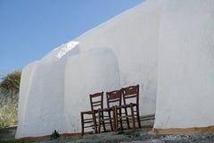 Παραδοσιακή Ελλάδα architecutre oia στο νησί santorini Στοκ Εικόνα