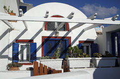 Παραδοσιακή Ελλάδα architecutre oia στο νησί santorini Στοκ φωτογραφία με δικαίωμα ελεύθερης χρήσης