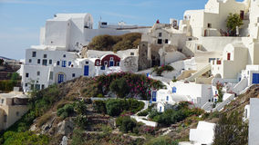 Παραδοσιακή Ελλάδα architecutre oia στο νησί santorini Στοκ Φωτογραφίες