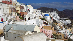 Παραδοσιακή Ελλάδα architecutre oia στο νησί santorini Στοκ Εικόνες