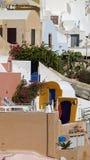 Παραδοσιακή Ελλάδα architecutre oia στο νησί santorini Στοκ Φωτογραφία