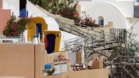 Παραδοσιακή Ελλάδα architecutre oia στο νησί santorini Στοκ εικόνα με δικαίωμα ελεύθερης χρήσης