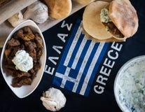 Παραδοσιακή ελληνική κουζίνα Στοκ Εικόνες