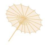 Παραδοσιακή ιαπωνική ή κινεζική ομπρέλα πέρα από το άσπρο backgrround Στοκ Φωτογραφία
