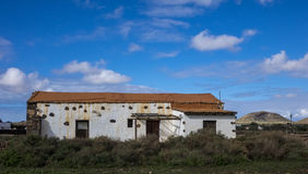 Παραδοσιακή καταστροφή στα Κανάρια νησιά Ισπανία Λα Oliva Fuerteventura Las Palmas Στοκ εικόνα με δικαίωμα ελεύθερης χρήσης