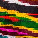 Παραδοσιακή κεντρική ασιατική διακόσμηση του υφάσματος Στοκ φωτογραφία με δικαίωμα ελεύθερης χρήσης