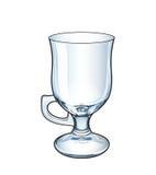 Παραδοσιακή κούπα για τον ιρλανδικό καφέ, κενό, διάνυσμα Στοκ εικόνα με δικαίωμα ελεύθερης χρήσης