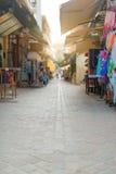 Παραδοσιακή μεσογειακή οδός Στοκ Εικόνα