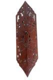 Παραδοσιακή ξύλινη ασπίδα στοκ εικόνες με δικαίωμα ελεύθερης χρήσης