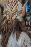 Παραδοσιακή ξύλινη μάσκα Στοκ εικόνες με δικαίωμα ελεύθερης χρήσης