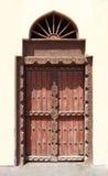 Παραδοσιακή ξύλινη πόρτα, Ομάν Στοκ Φωτογραφία