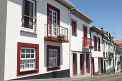 Παραδοσιακή οδός των Αζορών Angra do Heroismo Νησί Terceira Στοκ εικόνα με δικαίωμα ελεύθερης χρήσης